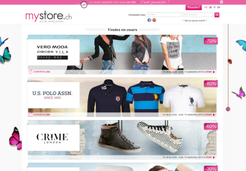 Lancement du site de ventes privées My-store.ch